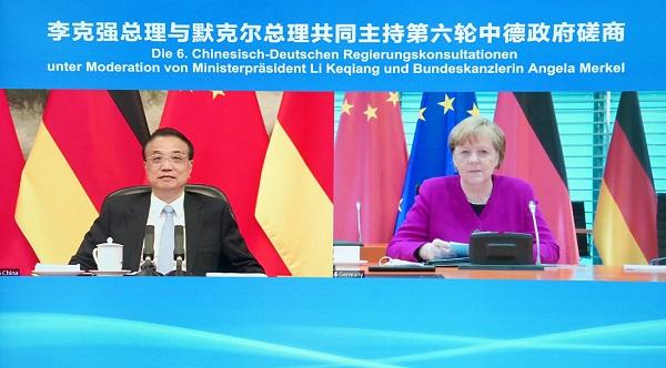 李克强与德国总理默克尔主持第六轮中德政府磋商